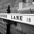 old metal victorian sign for warstone lane jewellery quarter Birmingham UK by Joe Fox