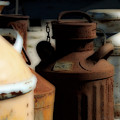 Old Milk Cans by Danielle Miller