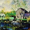 Old Mill In April by Pol Ledent