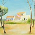 Old Mill In The Algarve by Jenny anne Morrison