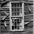 Old Mill Window Bw Sq by David Gordon
