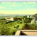 Old Mission And St. Anthony's College, Santa Barbara Ca, 1910 by Dwight GOSS