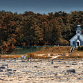 Old Mission Point Light House 01 by Thomas Woolworth