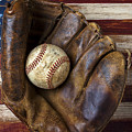 Old Mitt And Baseball by Garry Gay