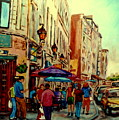 Old Montreal Cafes by Carole Spandau