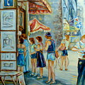 Old Montreal Street Scene by Carole Spandau