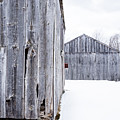 Old New England Barns Winter by Edward Fielding