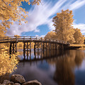Old North Bridge In Infrared by Brian Hale