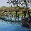 Old North Bridge In Pastel by Jack Skinner