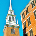 Old North Church Tower In  Boston-massachusetts by Ruth Hager