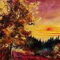 Old Oak At Sunset by Pol Ledent