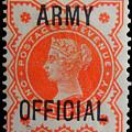 Old Orange Halfpenny Stamp  by James Hill