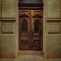 Old Ornamented Wooden Gate In Brown Tones by Jaroslaw Blaminsky