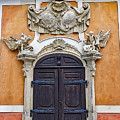 Old Ornate Door At The Cesky Krumlov Castle At Cesky Krumlov In The Czech Republic by Richard Rosenshein