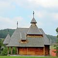 Old Orthodox Wooden Church On Hill by Goce Risteski