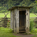 Old Outhouse On A Farm In The Smokey Mountains by Randall Nyhof