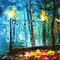 Old Park 2 - Palette Knife Oil Painting On Canvas By Leonid Afremov by Leonid Afremov