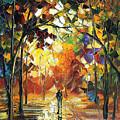 Old Park 3 - Palette Knife Oil Painting On Canvas By Leonid Afremov by Leonid Afremov