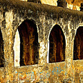 Old Patzcuaro Wall 3 by Mexicolors Art Photography