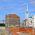 Old Portsmouth Flood Gates by Terri Waters