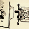 Old Push Button Light Switch by Paul W Faust - Impressions of Light