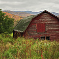 Old Red Barn In Autumn Keene Ny by Terry DeLuco
