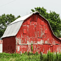Old Red Barn Johnson County Ia by Cynthia Woods
