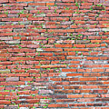 Old Red Brick Wall by Art Phaneuf