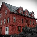 Old Red House In Shelburne Falls by Brenda Spittle