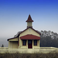 Old Red Roofed School House by Toula Mavridou-Messer
