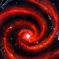 Old Red Spiral Galaxy by Sofia Metal Queen
