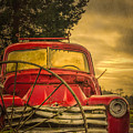 Old Red Truck by Don Schwartz