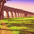 Old Roman Aqueduct by Dominic Piperata