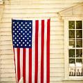 Old Rugged Field Flag by Craig J Satterlee