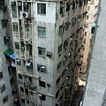 Old Run-down Concrete High-rise Apartment Buildings In Kowloon by Sami Sarkis