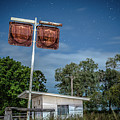 Old Rustic Fuel Station Sign In The Countryside by Rob D