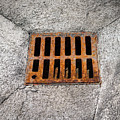 Old Rusty Street Grate Near The Sea In Cres by Stefan Rotter