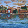 Old San Juan Gate, 4x6 In. Original Is Sold by Alicia Maury