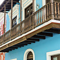 Old San Juan Houses In Historic Street In Puerto Rico by Jasmin Burton