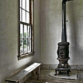 Old School House Stove by Wes and Dotty Weber