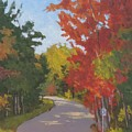 Old Scoolhouse Road Fall - Art By Bill Tomsa by Bill Tomsa