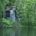 Old Shed On The Lake by Marjorie Imbeau