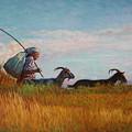 Old Shepherd by Alexander Chernitsky