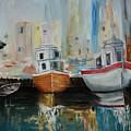 Old Ships At Dock by Rick Pettit