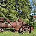 Old Steam Machine In Palmse Manor House Gardens by Aivar Mikko
