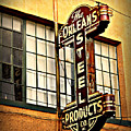 Old Steel Neon Sign by Perry Webster
