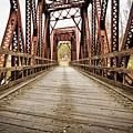 Old Steel Train Bridge by Edward Fielding