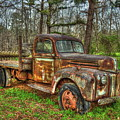 Old Still Art 1947 Ford Stakebed Pickup Truck Ar by Reid Callaway