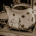 Old Tea Kettle In A Miner's Cabin by Teresa Wilson