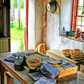 Old Time Kitchen At Old World Wisconsin by Christopher Arndt